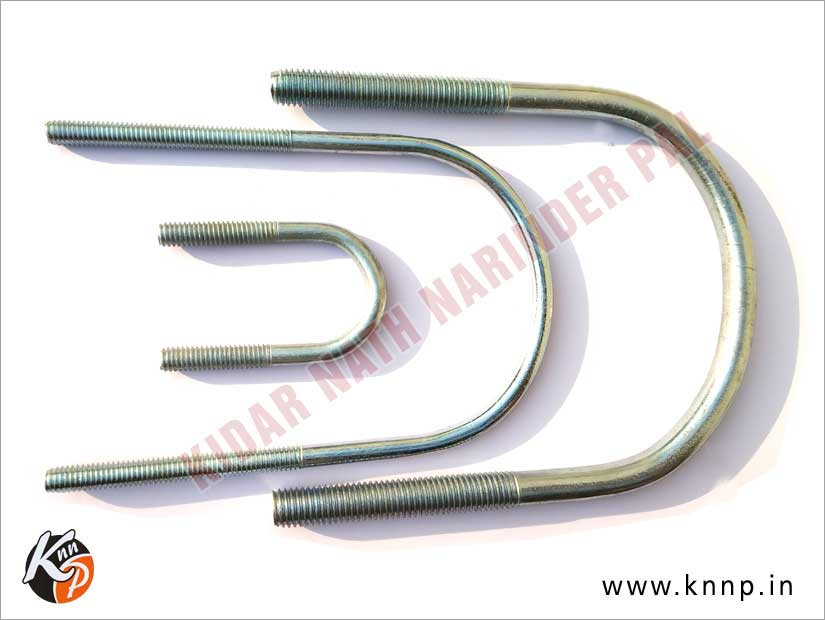Bright Zinc Plated Steel Round U-Bolt manufacturers suppliers India Punjab Ludhiana